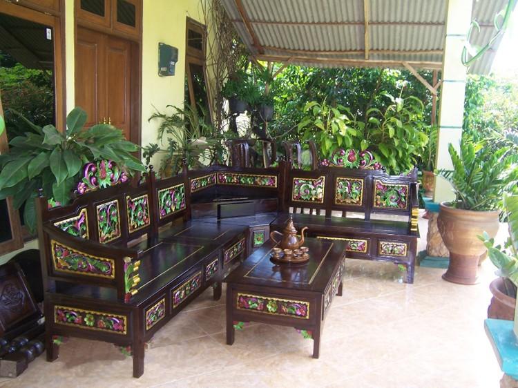 Kursi Sudut Kembang | Nirwana Furniture