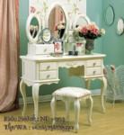 Meja Rias Cat Duco Model Klasik Warna Putih