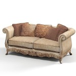 KURSI SOFA UKIR BROWN