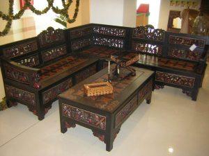 Kursi Sudut Batik Ukir | Nirwana Furniture