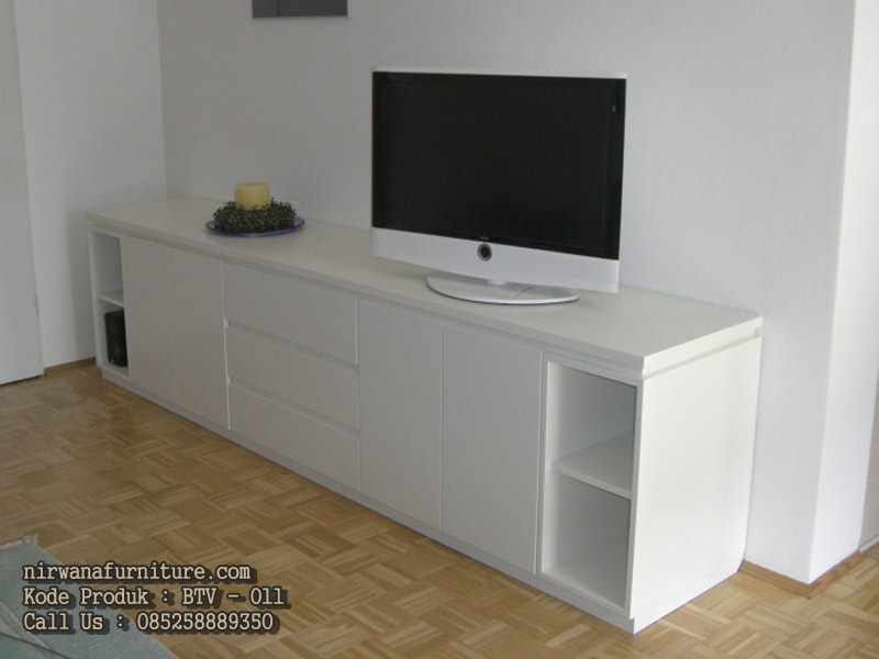 bufet tv minimalis modern duco mebel jepara nirwana. Black Bedroom Furniture Sets. Home Design Ideas