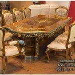 meja makan mewah 10 kursi