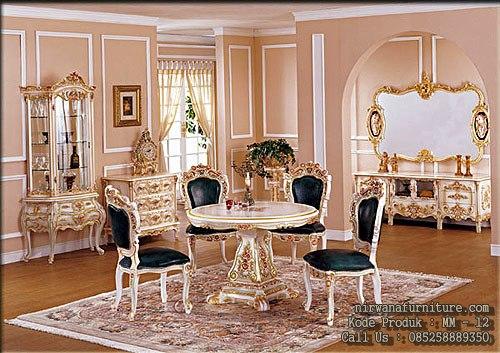 meja makan mewah 4 kursi