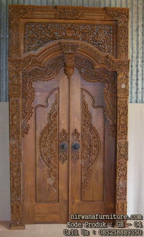 jual pintu gebyok kayu jati jepara