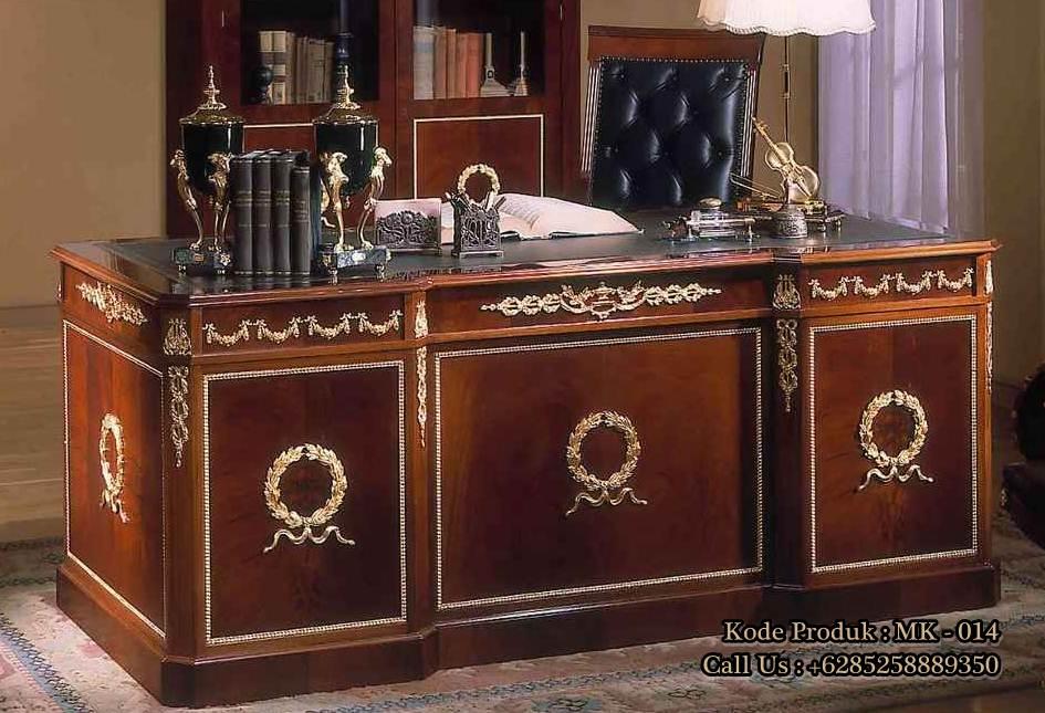 meja kantor kayu jati mewah