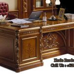 meja kantor kayu jati desain terbaru