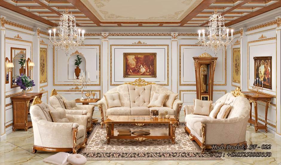 Sofa Kursi Tamu Princes Kayu Jati