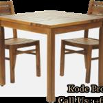 Meja Kursi Makan Kayu Jati Untuk Restoran Dan Cafe