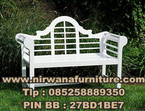 Desain Kursi Taman Warna Putih - Garden Furniture - Mebel Jepara