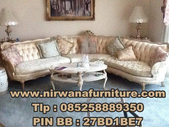 Desain Sofa Sudut Baroque - Jual Sofa Sudut Baroque - Sofa Ukir