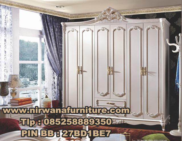 Desain Lemari Pakaian Klasik - Jual Lemari Pakaian Klasik 6 Pintu