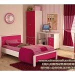 kamar set anak warna pink