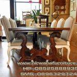 meja kursi makan klasik warna kombinasi