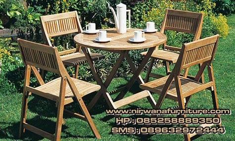 meja makan garden untuk taman
