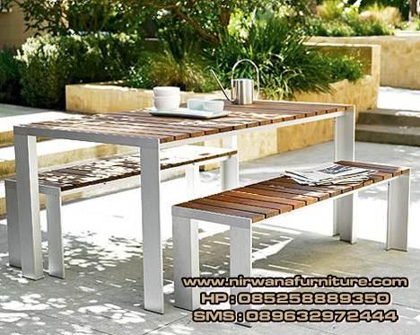 meja makan garden minimalis