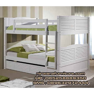 tempat tidur tingkat model klasik terbaru toko mebel