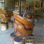 Produksi Kursi Tamu Antik Ikan Arwana Ukiran