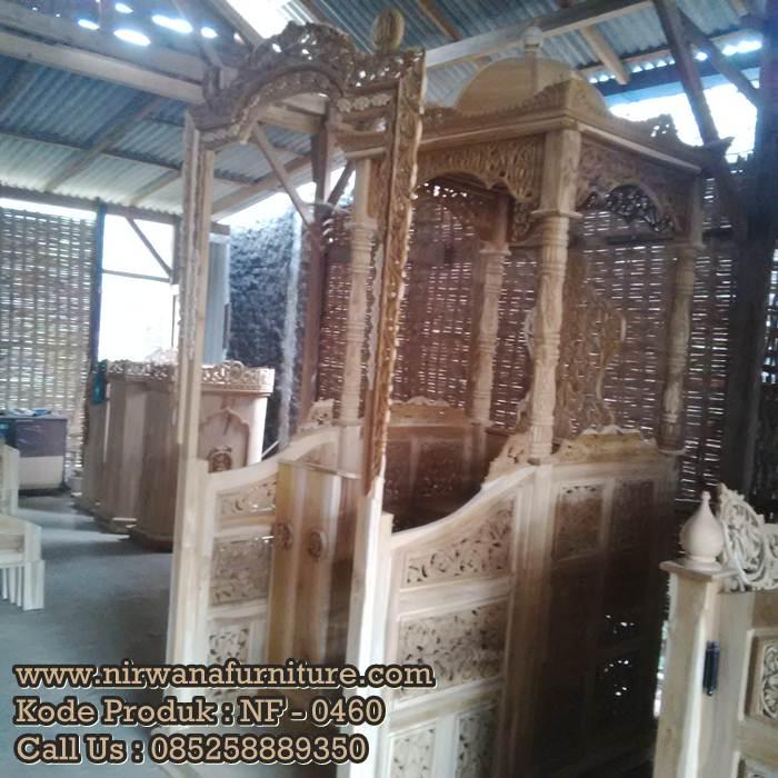Mimbar Masjid Kaligrafi Ready Stock