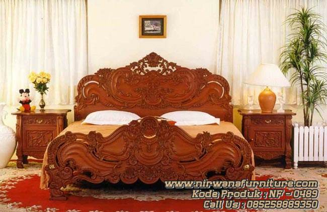 Baroque Style Tempat Tidur Mewah Kamar Utama