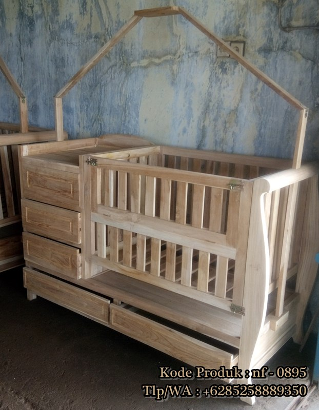 jual Box Bayi Kayu Jati Ready Stock