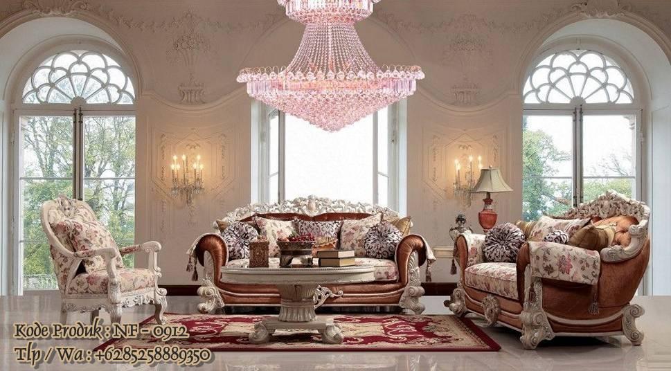 Kursi Sofa Ruang Tamu Mewah Hand Made Jepara Model Waldorf Living Room