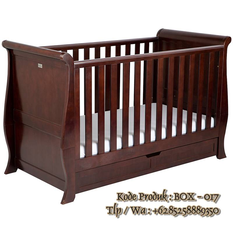 tempat tidur bayi kayu jati