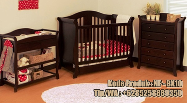 set-ranjang-bayi-model-minimalis-kayu-jati-tua