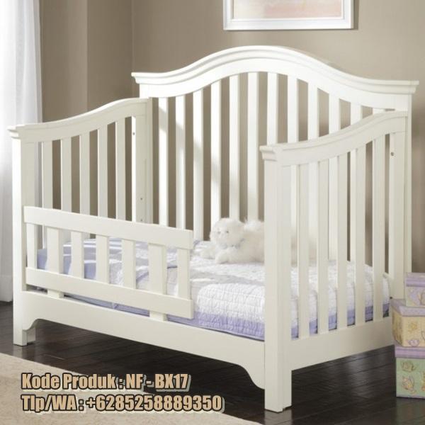 ranjang bayi minimalis cat duco bahan kayu