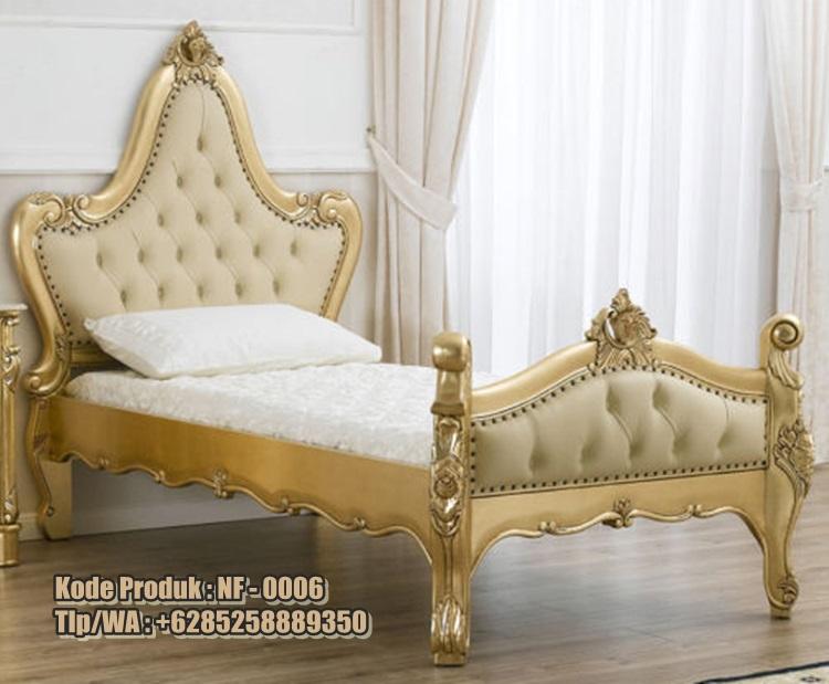 tempat tidur anak model klasik cat duco harga murah