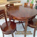 meja makan minimalis kayu jati harga murah
