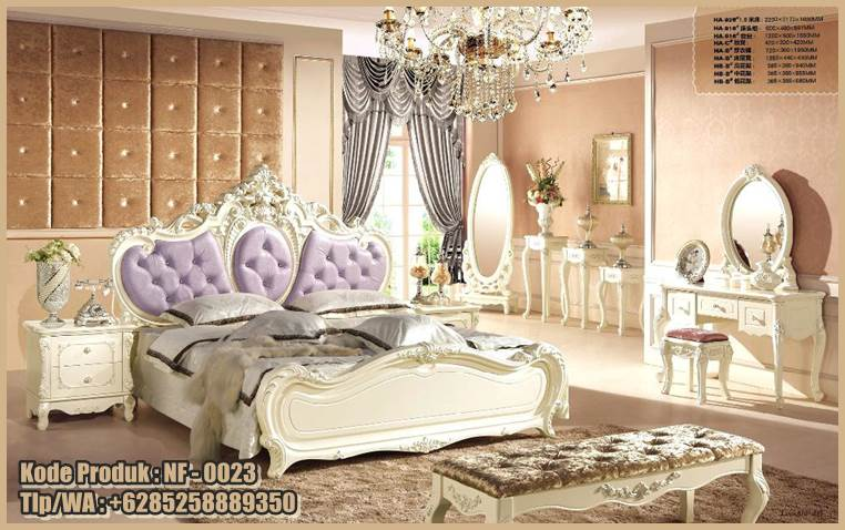 This image has an empty alt attribute; its file name is nf-0023-tempat-tidur-mewah-model-klasik-desain-princess.jpg